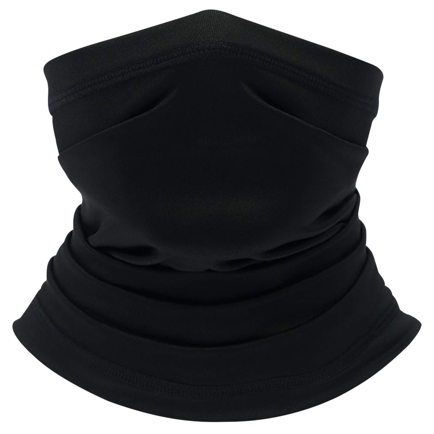 Your Choice Half Face Mask for Dust Sun Protection Motorcycle Fishing Cooling Neck Gaiter for Men and Women Set of 2 Black
