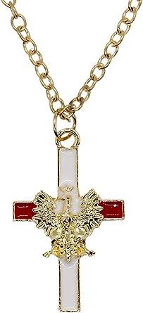 24in BEKAI Demogorgon Faith Cross Zinc Alloy Necklaces