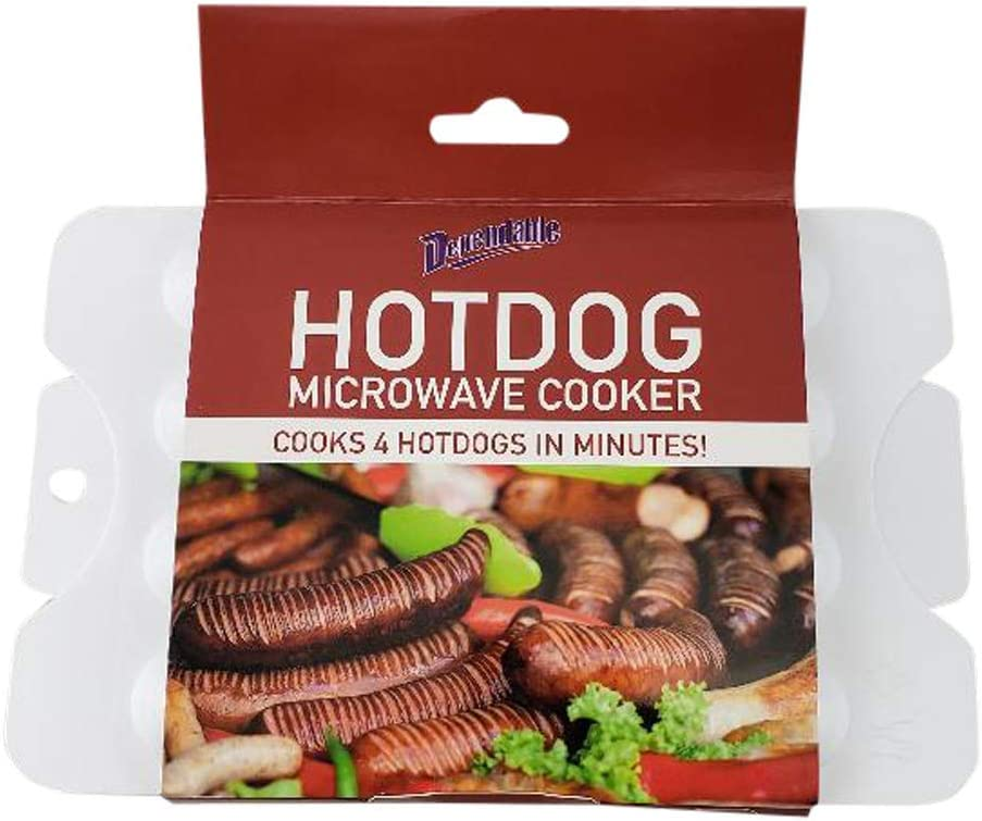 Rapid Hot Dog Steamer Microwave Cooker - Perfect for Dorm, Small Kitchen, or Office - Dishwasher Safe - BPA Free