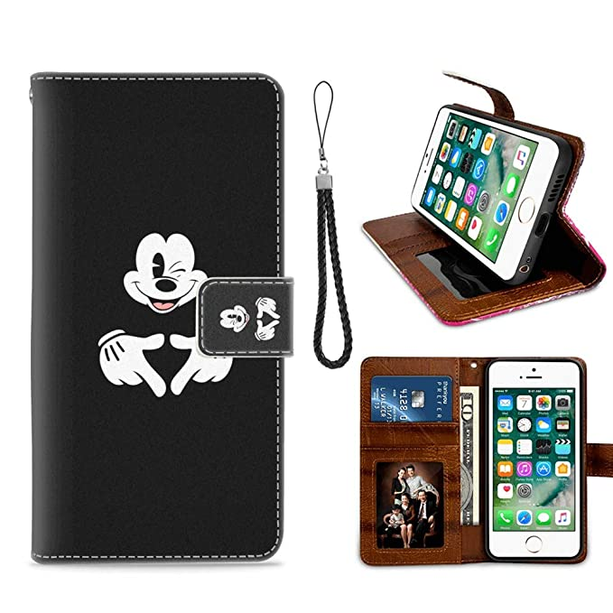 newest 980c1 f739c Amazon.com: for iPhone 7 Plus, iPhone 8 Plus Wallet Case Mickey ...