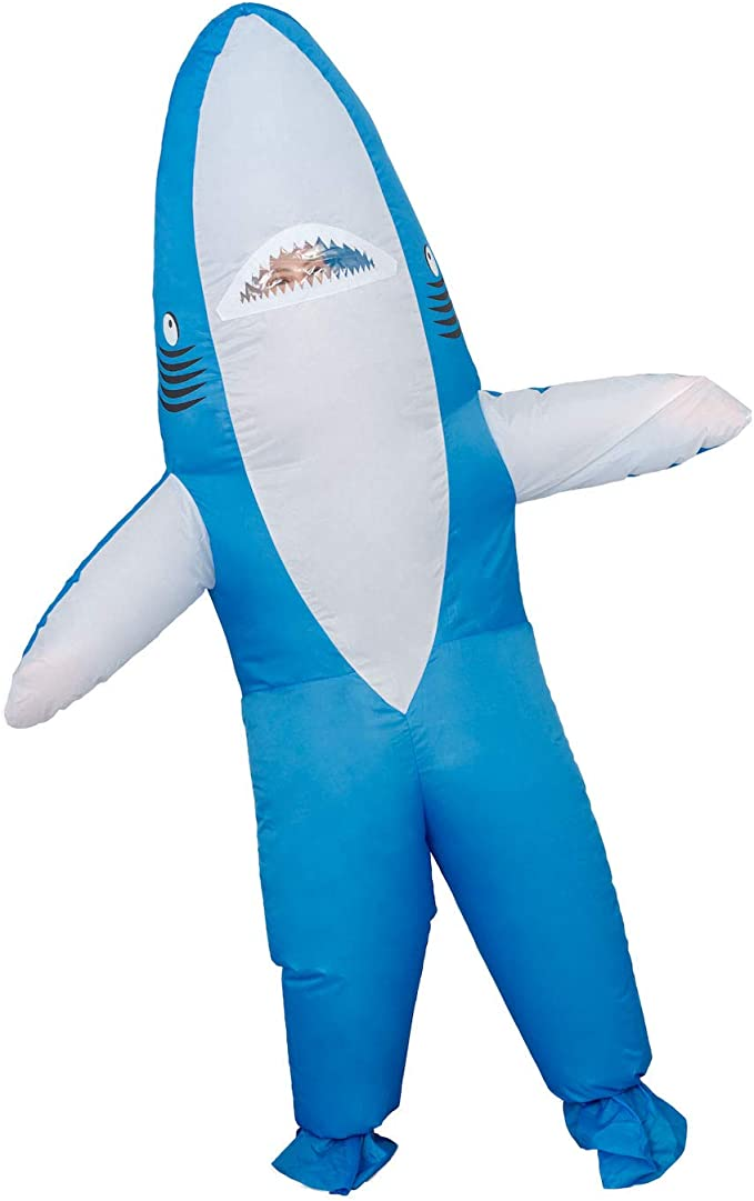 Amazon.com: Disfraz de tiburón inflable para Halloween: Clothing