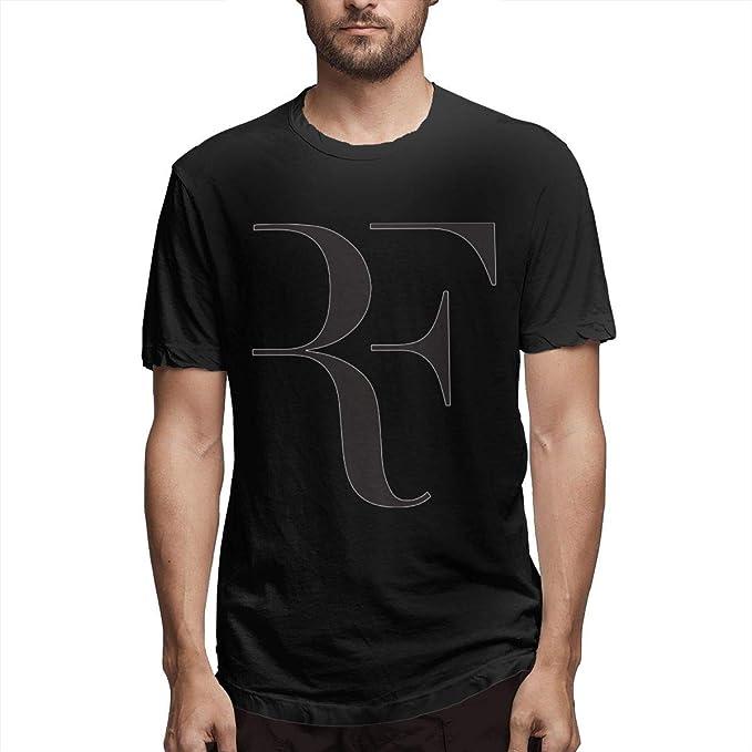 Roger Federer Logo Man T Shirts Crew Neck Short Sleeve Basic ...