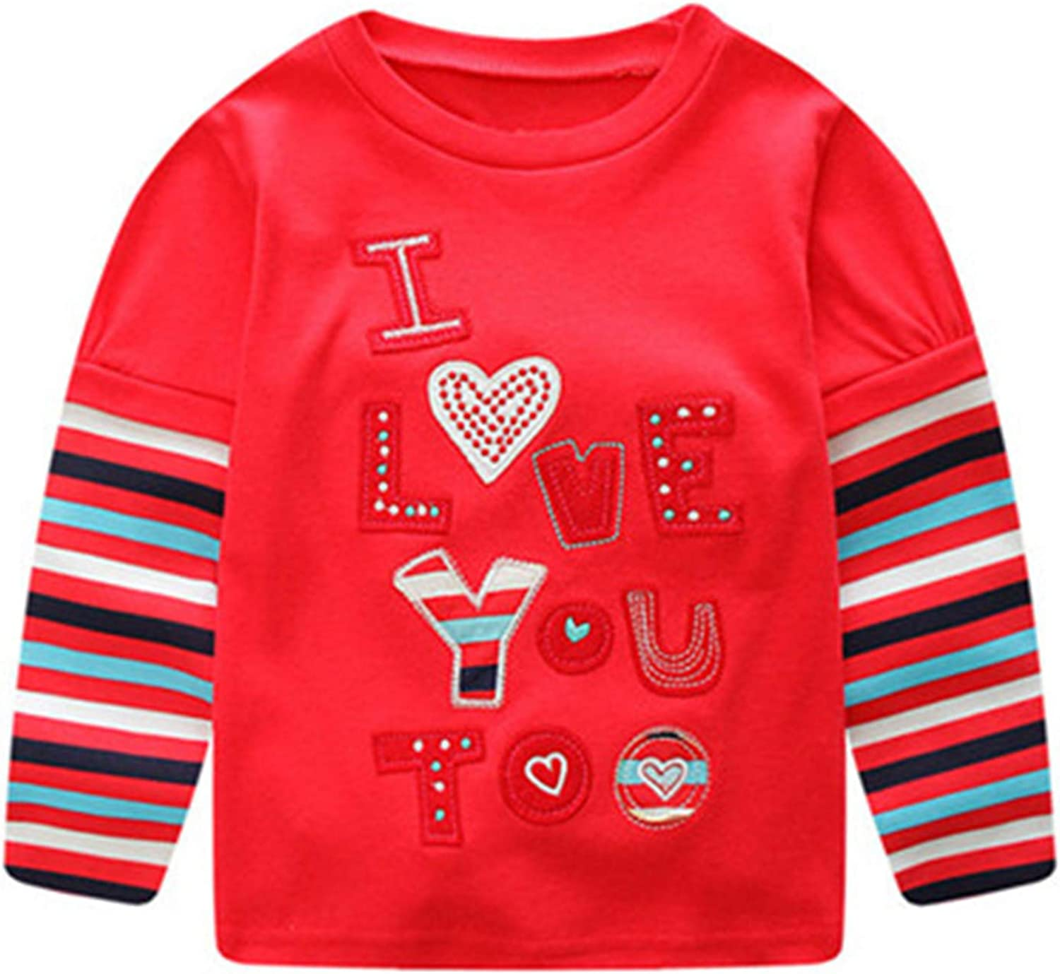 Melissa Wilde Autumn Winter Kids Sweatshirts Children Baby Girl Letter Printing Striped Long Sleeve Tops