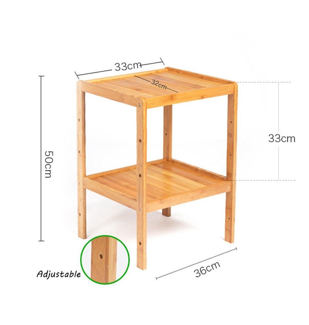 Standing Shelf Bathroom Wood Organization Storage Rack Standing Shelving Unit Living Room Bamboo Bookcase Cube Kitchen Cabinet Bookshelf Flower Rack (Size : 2-tier) by LPZ-Shelving (Image #2)