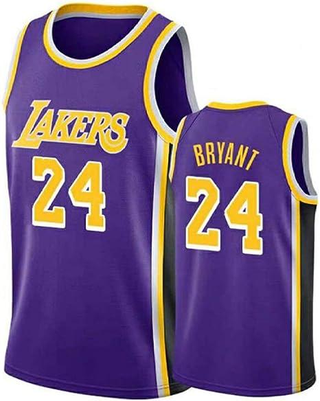 RTVZ Hombres Sra. NBA Lakers 24# Kobe Bryant Jerseys Camisa De Baloncesto Leotardos De Malla Transpirable Uniforme De Baloncesto Bordado Tops Traje De Baloncesto: Amazon.es: Deportes y aire libre