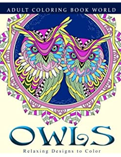 Adult Coloring Books Owls Relaxing Designs To Color For Adults