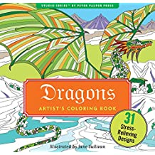 Dragons Adult Coloring Book (31 stress-relieving designs)
