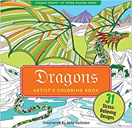 Dragons Adult Coloring Book (31 stress-relieving designs) (Studio ...