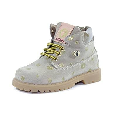 WALKEY CHAUSSURES AVEC POIS LACETS ET CHARNERE PREMIERS PAS BEIGE/OR MADE IN ITALY