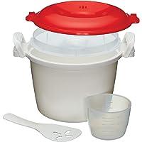 KitchenCraft magnetron-rijstkoker en -stoompan, BPA-vrije kunststof, 1,5 liter