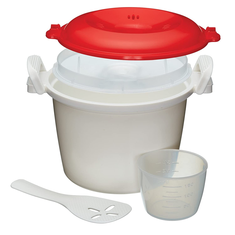 Kitchen Craft Pentola da riso per microonde 1, 5 l [Importato da Regno Unito] Kitchen Chef KCRICECOOK