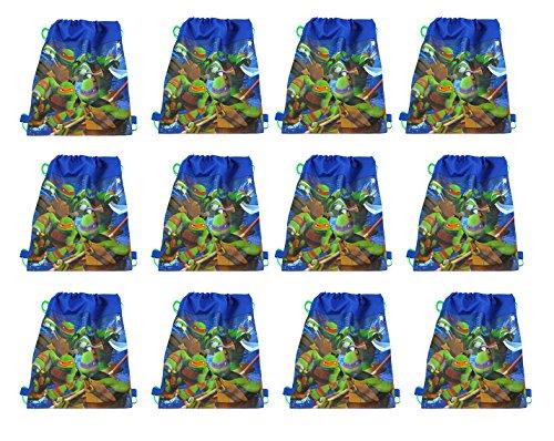 Party Favor - TMNT Ninja Turtles Non Woven Sling Bag X12