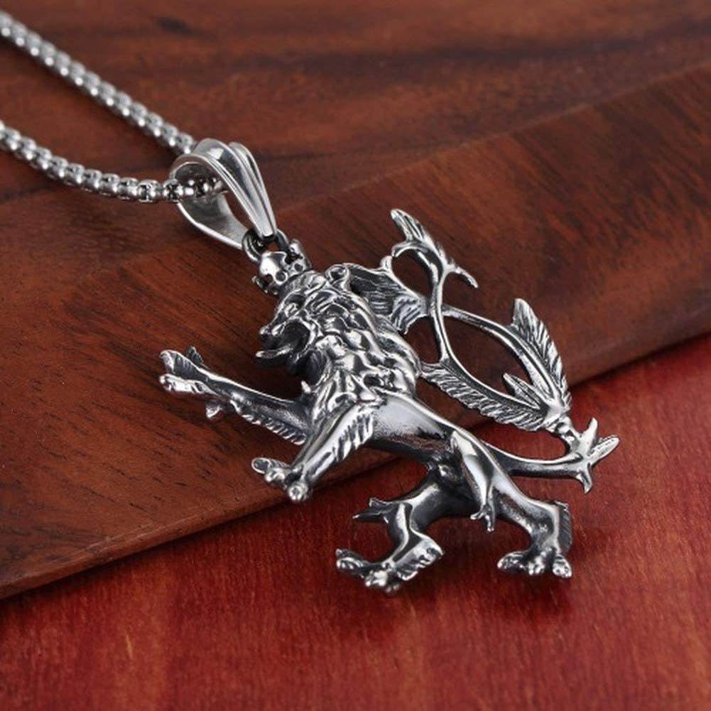 Wyanger Stainless Steel Jewelry Mens Necklace Titanium Steel Pendant