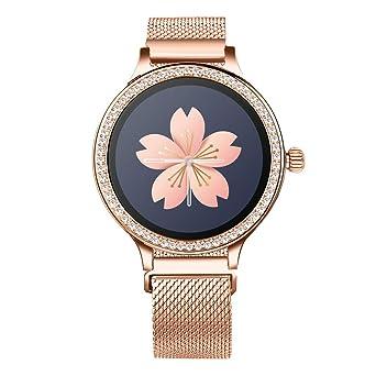 CAOQAO- Reloj Mujer Correa de Cuero M8 Reloj Inteligente Monitor ...