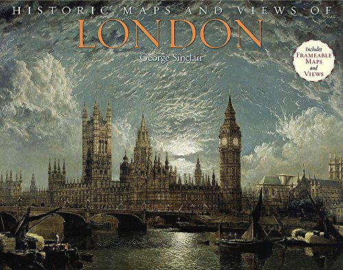 Historic Maps and Views of London: 24 Frameable Maps (Photography Aerial Map)