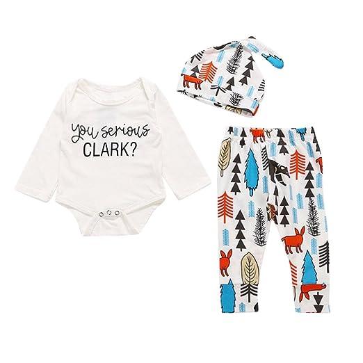 b278cbae5 Amazon.com  Wenjuan Long Sleeve Shirts Blouse Tops+Print Pants+Hat ...