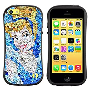 "Hypernova Slim Fit Dual Barniz Protector Caso Case Funda Para Apple iPhone 5C [Cinder Arte del carácter Glitter Imagen de la historieta""]"