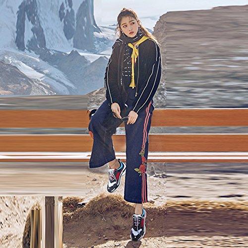 Scarpe Retro Scarpe Donna Singole Sportive Selvaggio Sandales Gray Versione Estate Scarpe Coreana Primavera Nuovo Scarpa Vecchie qx06gwP