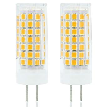 Neueste G6.35 GY6.35 LED 6W Birne Leuchtmittel Hohe Helligkeit Äquivalent zu 75Watt Halogenlampe 95V-240V Warm Weiß 3000K (2-
