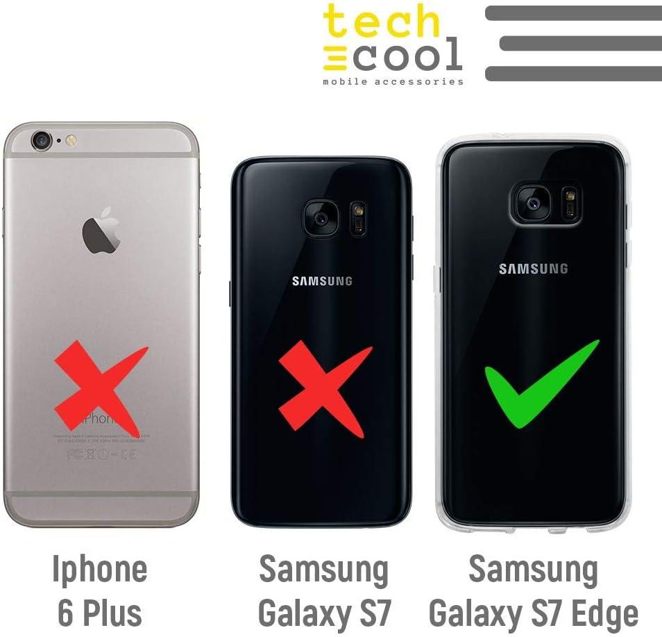 Funnytech/® Funda Silicona para Samsung Galaxy S7 Edge Frase Mi mam/á Hace Maravillas Fondo Rosa Gel Silicona Flexible, Dise/ño Exclusivo