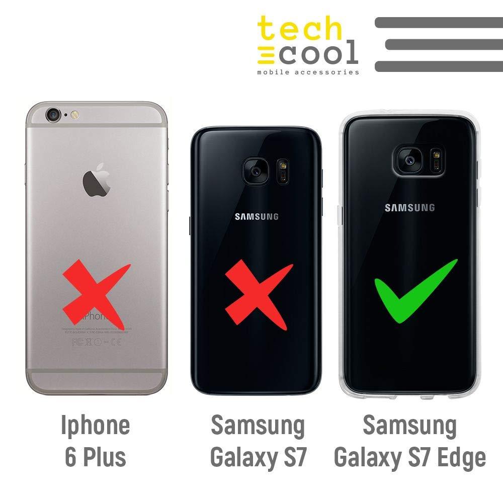 Gel Silicona Flexible, Dise/ño Exclusivo Pareja Gatos Rosa Funnytech/® Funda Silicona para Samsung Galaxy S7 Edge