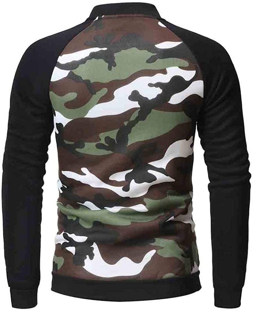 YUNY Mens Long Sleeve Slim Fit Zips Hoode Thicken Warm Fleece Tshirt Green 2XL