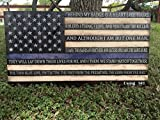 Rustic Thin Blue Line American Flag w/ End of Watch quote (19''x37'')