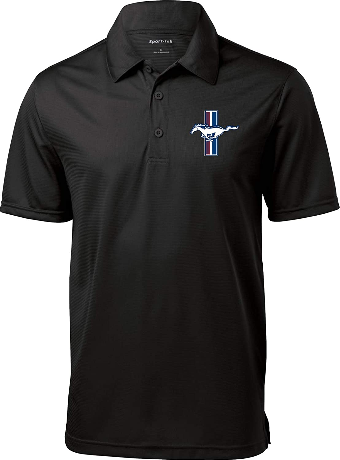 Buy Cool Shirts Ford Textured Polo Legend Lives Crest Pocket Print