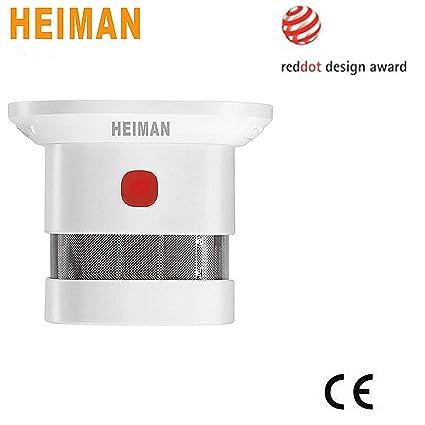heiman 10 años Mini diseño Detector/Smart Smoke Sensor/Detector de humo (–