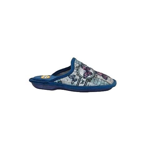 Zapatillas Biorelax - Zapatillas Casa Mariposas - Azul-Rosa, 41: Amazon.es: Zapatos y complementos