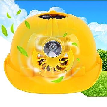 Filfeel Casco de Seguridad construcción protección Solar Ventilador Trabajo con ventilación Ventilador enfriamiento para Equipos al Aire Libre