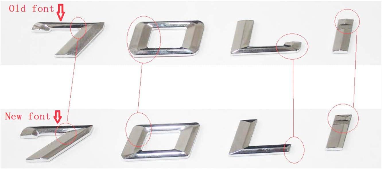 DGF HGF Chrome Letters Boot Emblem Emblem Badge Emblems F30 F35 F80 F31 320i 330i 340i 318i 316i 328i 335i 330d 335d 340e XDrive