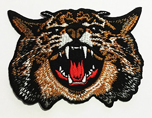 Angry Wildcat Wildlife Applique Embroidered product image
