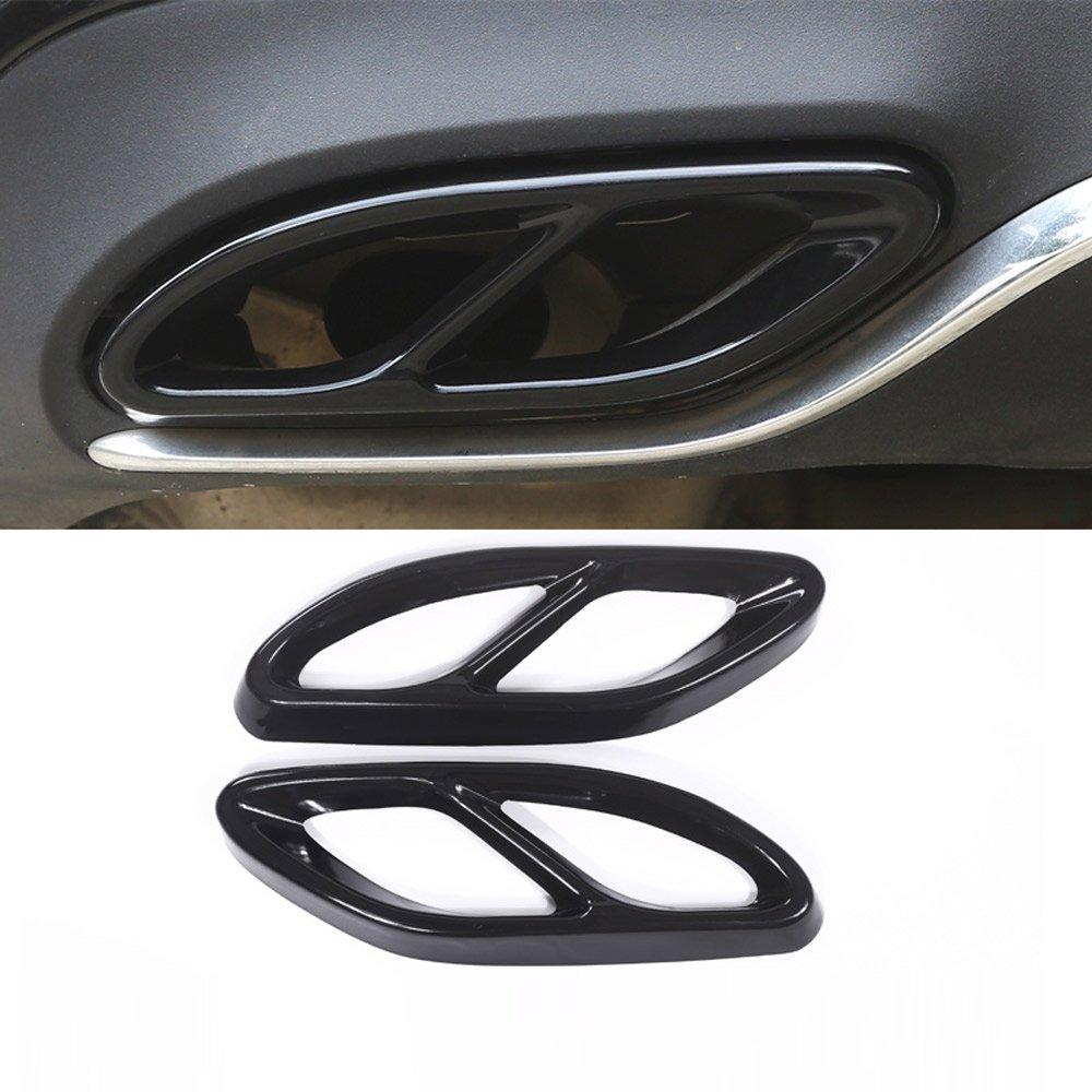 2/x Pot d/échappement en acier Coque Tond W213/W205/W246/C292/GLE GLS GLC A B C E Class Car-styling