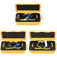 Herramienta de prueba de cable de fibra óptica OTDR caja de cables de lanzamiento 1 km SC/UPC-SC/APC, SC/UPC-FC/UPC, FC/UPC-FC/UPC SM OTDR eliminador de zonas muertas 1310/1550nm