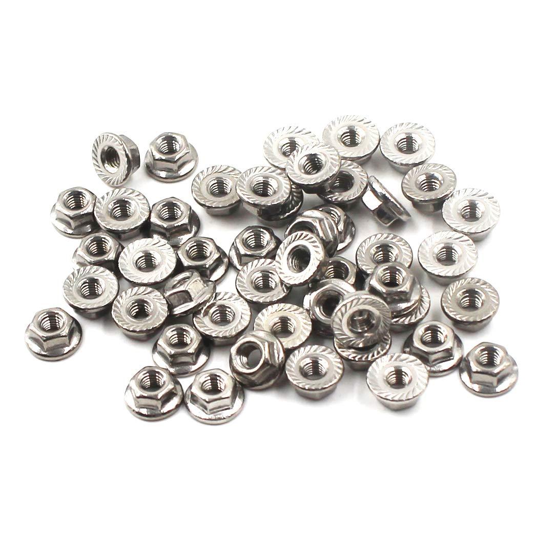 /Écrous /à collerette M6 /Écrou /à collerette hexagonale en acier inoxydable 304 en acier inoxydable 30 pi/èces