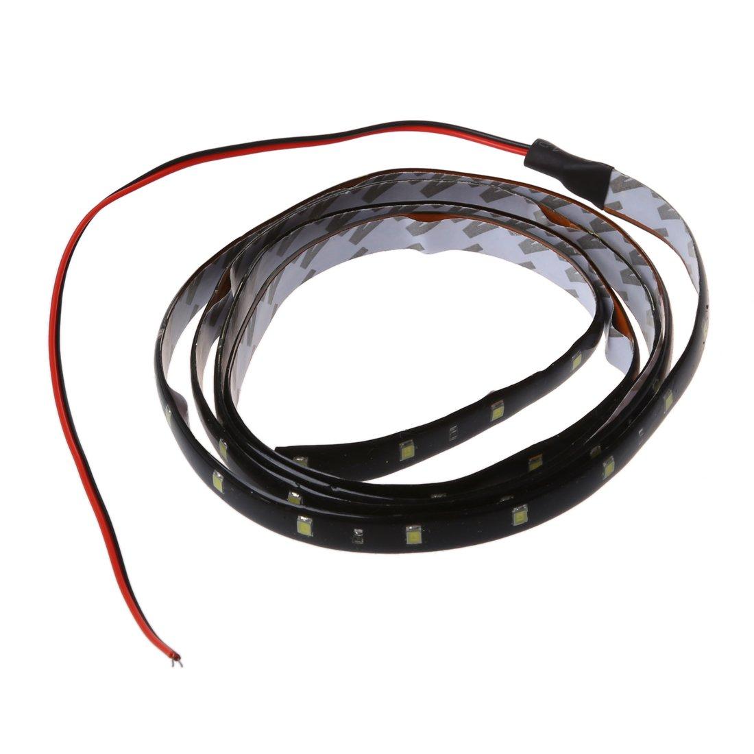 SODIAL(R) 120CM 60 SMD Tira de Luz LED Neon Flexible Impermeable para Coche - Blanco: Amazon.es: Hogar