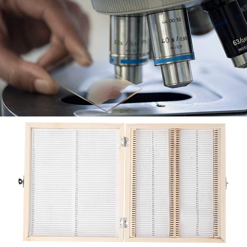Slide Box Prepared Microscope Storage Box for Basic Science Education