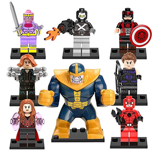 TONGROU 8pcs/set-Thano-Crossbones-Minifigures-Building-Blocks-kids-toys