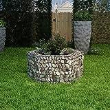 Festnight Outdoor Garden Gabion Stone Basket Planter Raised Vegetable Bed,Steel Garden Decoration, Galvanized Steel 39.4' x 35.4' x 19.7'
