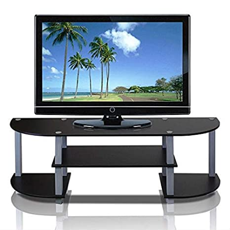 Amazon Com Myeasyshopping Contemporary Grey And Black Tv Stand