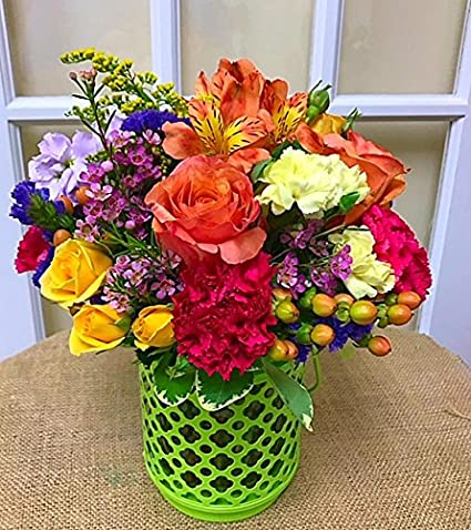 Amazon.com: Color Her Happy Bouquet – Flores frescas ...
