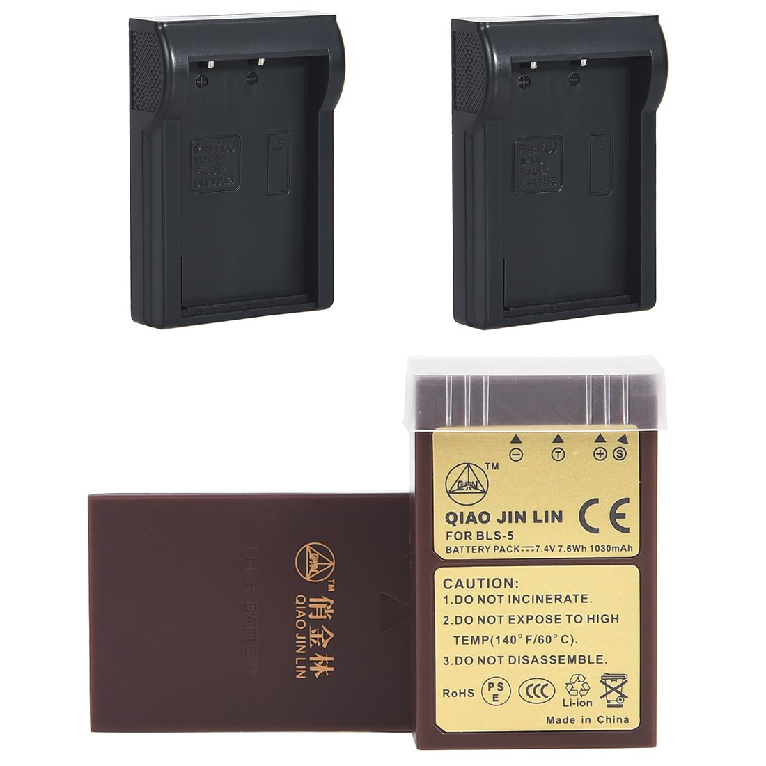 QiaoJL 2x Replacement battery pack for Olympus BLS-5 PS-BLS5 BLS5 BLS-50