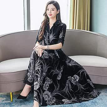 ETHAN Vestido Femenino Chino Otoño Moda Versión Gasa
