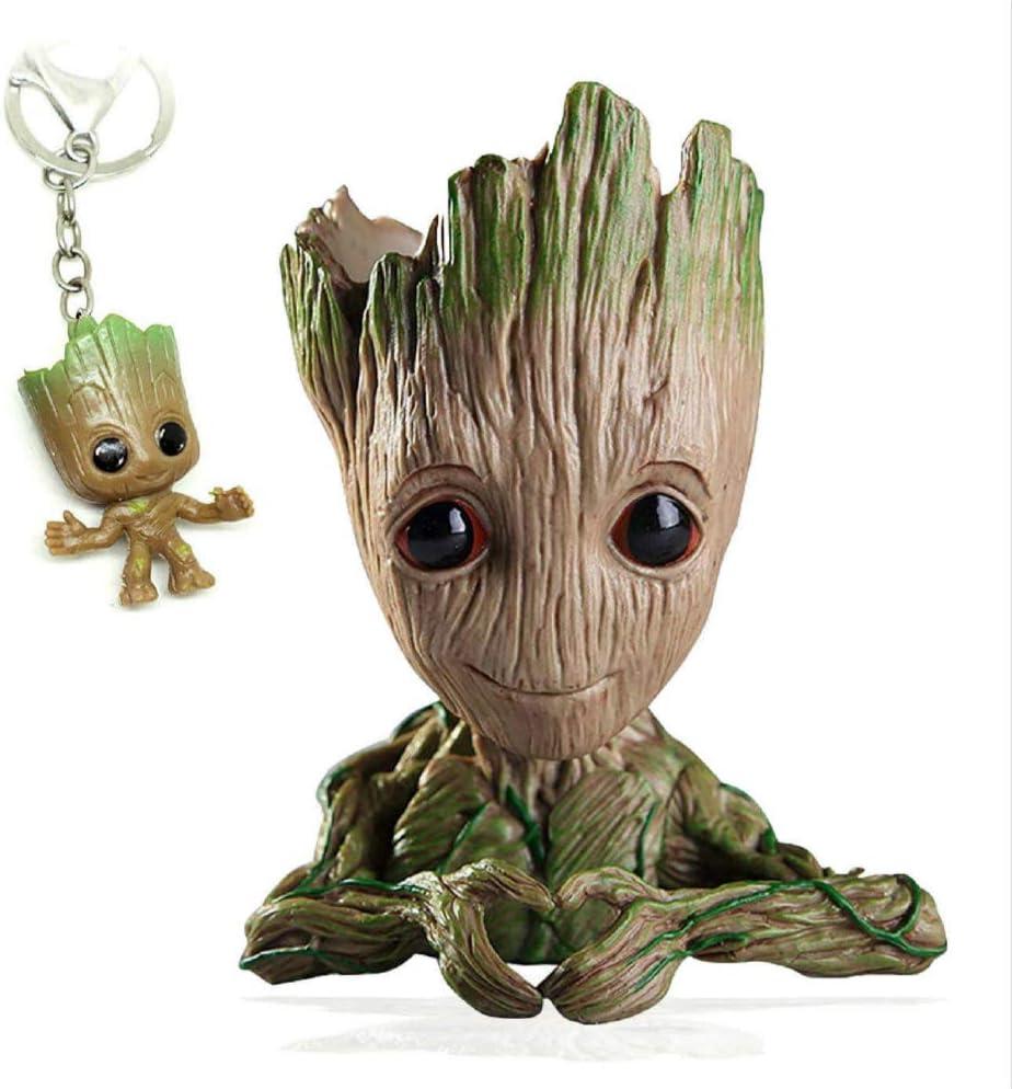 Forma de coraz/ón Perfecto como Regalo Maravillosa Figura de acci/ón de Guardians of The Galaxy para Plantas y bol/ígrafos Udream Baby Groot Maceta