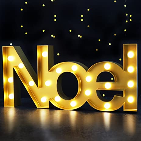 bright zeal 85 tall large noel christmas marquee sign letters gold