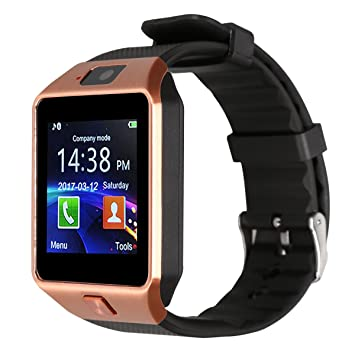Kivors Bluetooth Reloj Inteligente DZ09, Smartwatch Teléfono Inteligente Pulsera con Cámara Pantalla Táctil Compatible con Tarjeta SIM / TF para iOS o ...