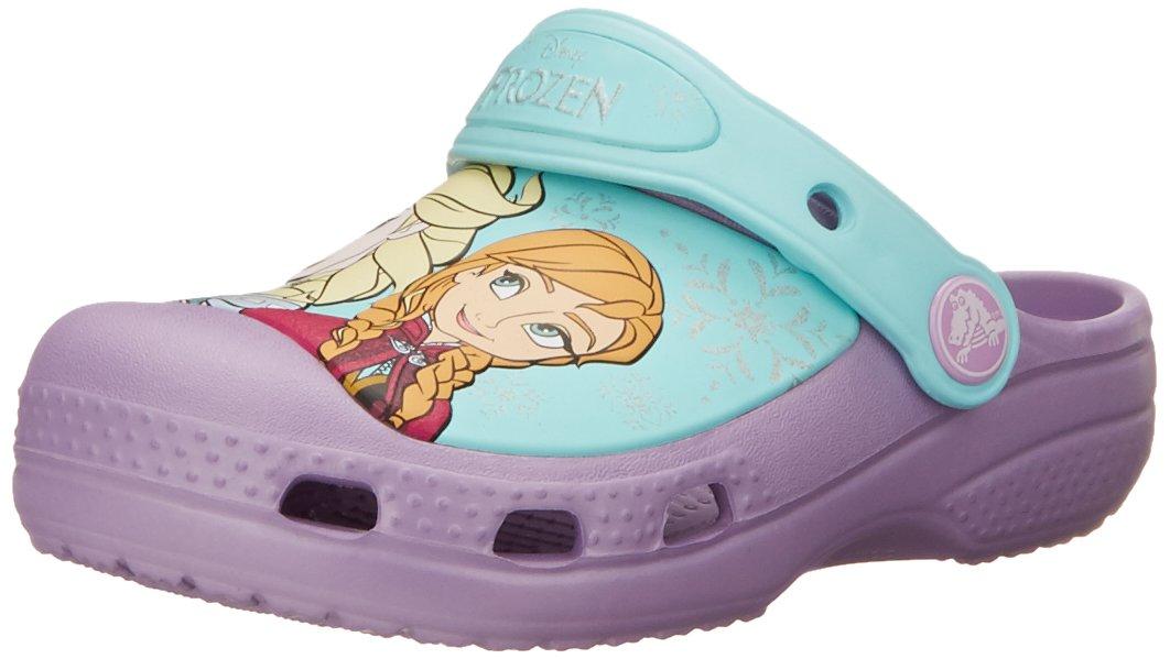Crocs Girls' CC Frozen Clog (Toddler/Little Kid),Iris,10-11 M US Toddler
