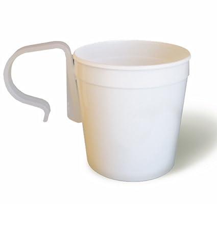 Amazon doeys wedding pew clips and white plastic flower pot doeys wedding pew clips and white plastic flower pot vase hang flowers on church pews mightylinksfo