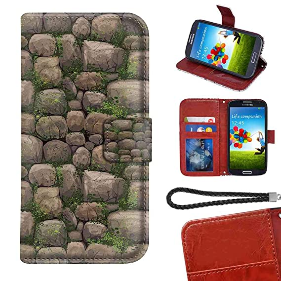 Amazon com: LG G7 ThinQ Wallet Case 6 1 Inch Nature Stones Covered